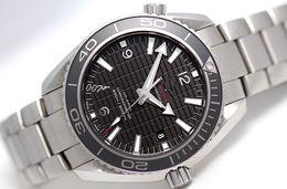 Wholesale Planet Ocean Skyfall - Luxury High Quality Planet Ocean Skyfall James Bond Limited Edition Automatic Black Mens Watch Transparent men's Wristwatches