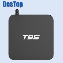 Wholesale Channel Player Android - T95 Android TV Box S905X Media player 1G 8G Android 6.0 Quad Core Smart Boxes HDMI2.0 TV Channels 4K