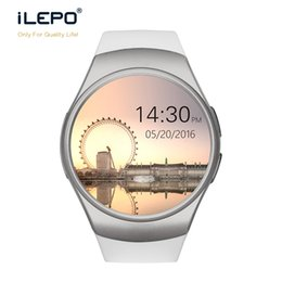 Wholesale Ios Color - Smartphone smartwatch KW18 with IPS LCD display HD rich color 260K round screen Micro SIM card telephone call GSM wrist smart watch