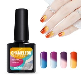 Wholesale Uv Gel Thermo Color - Wholesale-10ml UV Nail Gel Thermo Varnish Temperature Change Nail Mood Color UV Polish Chang Color UV Led Gel For Nail Soak Off Gel Polish