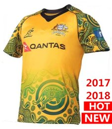Wholesale Hot Australian - Hot sales 17 18 NRL Jersey Australian Commemorative Edition 2017 2018 Australia rugby Jerseys t shirt s-3xl