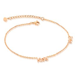 stainless steel sandals Coupons - Women Stainless Steel Ankle Anklet Infinity Love Zircon Chain Foot Bracelet Rose Gold Butterfly Barefoot Sandal Anklets Fashion Jewelry