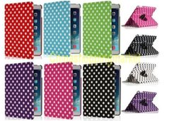 Wholesale Ipad Mini Case Dots - Polka Dot Pu leather Case 360 Rotating Smart Cover PU Leather Protect Protector Cover For iPad 2 3 4 5 air Mini 2 Retina 3 360 Rotating case