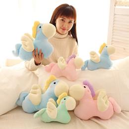 Wholesale Dolls Little Pony - 2017 Hot Sale Macaron Color Cartoon Stuffed Animal Angel Pony Little Horse Doll Baby Children Child Plush Toys Sleeping Doll Gifts