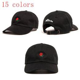 Wholesale Designer Hat Caps - Fashion Rose baseball cap Dad hats topi snapback brand hat Sun protection leisure sports hat designer Bboy caps for men women 2017 new