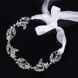 Wholesale Wedding Dresses Feast - Bride Soft Hair Ornament Crystals Chain Dress Accessories Headdress Feast Hairbands Hair Accessories Bridal Jewelry Headband