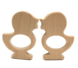 Wholesale Baby Toys Products - DIY Pendant Hand Cut Birds Wooden Birds Teething Toy Natural Beech Wooden Product Baby Teether Toys For Infants