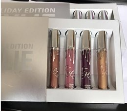 Wholesale Wholesale For Lip Gloss - Newest lip gloss kylie jenner Kylie Holiday Edition Kit 4pcs 6pcs Matte Liquid lipgloss Collection Set For Christmas Gift