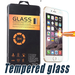 Wholesale Wholesale Crystal Boxes - For iPhone X 8 7 6 6S Plus 0.26mm HD Tempered Glass Screen Protector Film with Crystal Box For Samsung S6 J7 LG Stylo3 Aristo V3