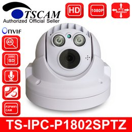 Wholesale Ptz Onvif - TSCAM SP-P1802SPTZ ONVIF Mini PTZ Dome IP Camera Full HD 1080P 2.0MP with Two Way Audio Micro SD TF Card Slot P2P