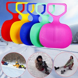 Wholesale Ski Boards - Wholesale- Outdoor Winter Plastic Skiing Boards Sled Luge Snow Grass Sand Board Sledge Ski Pad Snowboard For Kids Adult