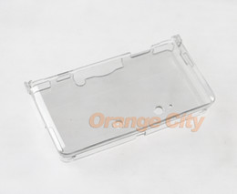 Boîtier en cristal 3ds en Ligne-Stylish Hot Sale Transparent Plastique Transparent Cristal Protectable Hard Shell Housse Housse pour Nintendo 3DS