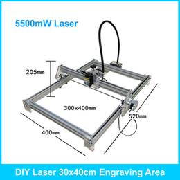 Wholesale Laser Engraver Cutter - 5500mW DIY Desktop Mini Laser Engraver Engraving Machine Laser Cutter Etcher CNC Picture Logo Printer 30*40cm