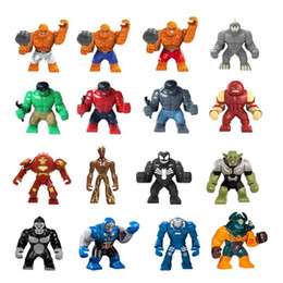 Wholesale Big Building Blocks Children - Big Blocks Single Sale Iron Man Red Hulk Groot Venom Buster Dogshank Killer Croc Super Heros Building Bricks Gift For Children
