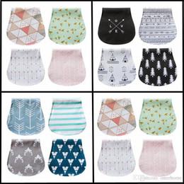 Wholesale Nurses Cartoons - Nursing Towels Baby Printed Burp Cloth Arrow Three Layers Bibs Waterproof Burp Saliva Bandana Cloth Infant Cotton Soft Feeding Towels H253