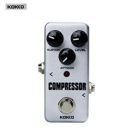 Wholesale Guitar Effect Compressor - Wholesale- KOKKO FCP2 Mini Compressor Compressing Effects Pedal for Electric Guitar