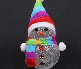Wholesale Christmas Gift Snowman Colorful Night - Selling Christmas snowman colorful crystal small night lights led creative gift lights