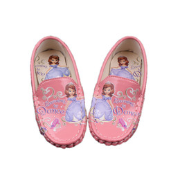 Wholesale Princess Sofia Shoes - fashion cute causal girl leather shoes sofia princess flat leather shoes for 3-6yrs girls kids children child party dance shoes