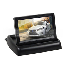 Wholesale Video Vcr - 4.3inch Foldable Car Monitor Reverse Rear View Monitor 2 Video Input for Camera DVD VCR