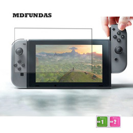 Wholesale Lcd Nintendo - Wholesale- Glass For Nintendo Wii Switch NX 6 Inch Tempered Glass Full Screen Protector 2.5D 9H Hardness LCD Protective Glass Film MDFUNDAS