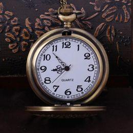 Wholesale Lucky Star Watches - Wholesale-2016 Vintage Retro Lucky Star Compass Bronze Watch antique brass bronze Watches key chain pocket quartz watch