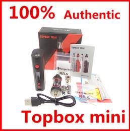 Wholesale Kanger E Cigarette Wholesale - 100% Authentic Kanger Topbox mini kit with KBOX Mini 75W Box TC Mod Top Fill Toptank Mini Atomizer E cigarette VS Subvod