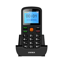 Wholesale Low Price Radio - New Arrivel UNIWA V708 1.77 Inch Dual SIM Card SOS Function Big Button Low Price Senior Phone