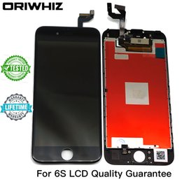 Wholesale Iphone Touch Screen Repair - ORIWHIZ 100% Test For iPhone 6s Display 3D Touch LCD Screen Replacement Repair Display 4.7 Inch screen with Frame White Black