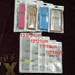 Wholesale Transparent Pouch Cell - Zip Lock Bags Zipper Retail Package Clear Transparent Bag Cell Phone FOR iPhone 7 Samsung S8 Case Plastic Packing Bags Hang Hole Pouches