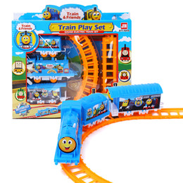 Wholesale Tracking Paper Wholesale - Wholesale- Interesting children toy, train assembling track, train model, children intelligence education toy, train model toy