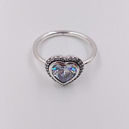 8fdf414ba534 Auténticos anillos de plata esterlina 925 Anillo de amor espumoso para joyas  estilo Pandora europeo 190929CZ