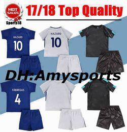 Wholesale Fabregas Shirt - 17 18 kids MORATA home soccer Jersey Kits PEDRO FABREGAS HAZARD DIEGO COSTA MORATA KANTE WILLIAN Away 3rd child youth Football Shirt