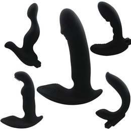 Wholesale G Spot Toys For Men - Anal Vibrator G-Spot Vibrators Prostate Massager Silicone Dildo Male Masturbation Anal Stopper Butt Plug Anal Sex Toy for Men H8-2-29