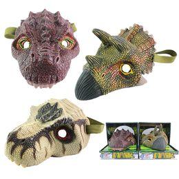 Wholesale Latex Dragon - simulation dinosaur mask toy model Halloween tumbling toys Tyrannosaurus rex dragon mask puzzle toys