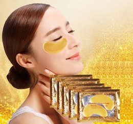Wholesale Wholesale Gel Face Mask - Gold Crystal Collagen Sleeping Eye Mask Hotsale Eye Patches Mascaras Fine Lines Face Care Skin Care3000sets