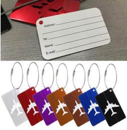 Wholesale Luggage Round - New Aluminium Travel Luggage Baggage Tag Suitcase Identity Address Name Labels