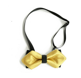 Wholesale Gold Bow Ties For Men - high-grade bow tie bow Sharp corners cortical metal tie christmas bow ties for men necktie royal family tie core and the wedding supplies 8