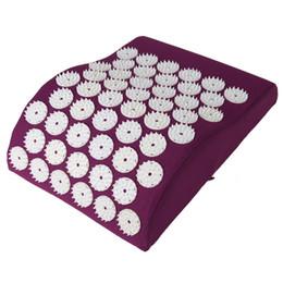Wholesale Mat Massage - Massage Cushion Acupressure mat Relieve Stress Pain Acupuncture Pillow Spike Yoga Neck Head Pain Stress Relief Pillow