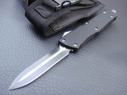 Wholesale Titanium Fishing - 2 styles Tactical knives MICRO TECH troodon whole blade Titanium 440C Blade with Pocket Sheath fishing knife camping knives