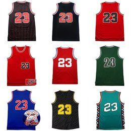 Wholesale Higher Sales - Hot sale 23# Michael basketball jersey High quality 100% Stitched throwback basketball jerseys Embroidery Logos free shipping