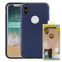 Wholesale Shock Proof Cases - 2 in 1 Hybrid Slim Shock Proof Plastic Case For iPhone x 7 6 6S Plus Samsung S8 s8plus j710 with Retail Package