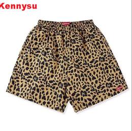 Wholesale Men S Satin Pants - 2017 hip hop design unisex men and women Street classic skateboard logo leopard jogger pants S to XL