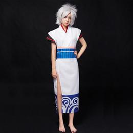 Wholesale Gintoki Cosplay Costume - Gintama Gintoki Sakata sex reversal lolita kimono outfit Cosplay Costumes