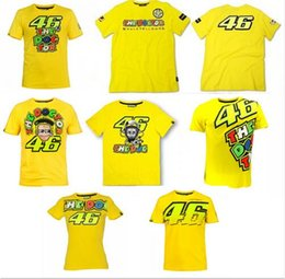 Wholesale High Life T Shirt - High Quality 2016 Valentino Rossi VR46 46 The Doctor T-shirt Moto GP Sport Sky Racing Team Life Style T Shirt Yellow Free Shipping