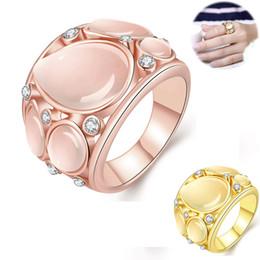 2019 кольцо из желтого золота 14к Sweet Personality Cat's Eye Stone Cz Drill Ring Женское золото 18K Золото Золотое золото Золотое Золото Выбор золота Опал Циркон Кольцо Подарочный подарок дешево кольцо из желтого золота 14к