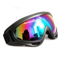 Óculos de snowboard on-line-Proteção UV Esportes Ski Snowboard Skate Óculos Óculos de Motocicleta Off-Road Esqui Goggle Óculos Eyewear Lente Colorida