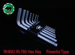 Wholesale Allen Key Set Ball - A Set 7 Pcs Japan RHINO RI-760 Hex Key Repair Tools Powerful Type Allen Wrench High Carbon Steel Middle Ball Head An Allen Key