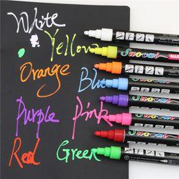 Wholesale Chalk Paintings - Wholesale- 1 PCS Highlighter Liquid Chalk Marker Pens For School Art Painting 8 Colors Round Chisel Tip 3mm School Supplies