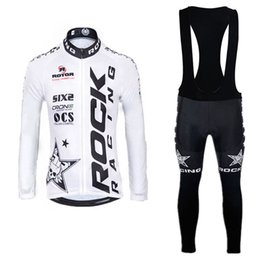 Wholesale Cycling Dry Rock - Hot ROCK Men's cycling long sleeve jersey bib pants sets maillot ciclismo MTB Racing ropa ciclismo hombre pro team Quick dry bike A0502