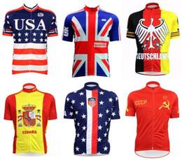 Wholesale Germany Pink - 2018 New USA Cycling Clothing Germany Spain UK USA National Team MTB Bike Jersey Tops